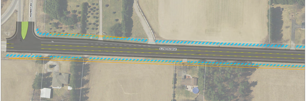 A detailed gallery of the proposed changes from Hwy 402 to Komoka Rd
