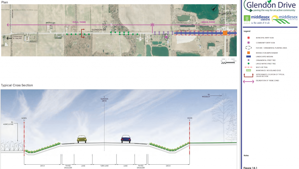A snapshot of Section 1 Glendon Drive EA changes