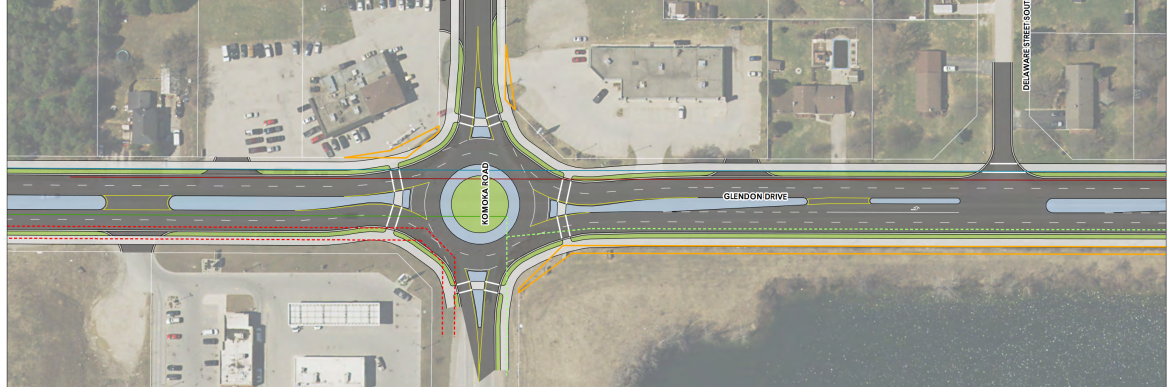 Detailed gallery of proposed changes from Komoka Rd to Jefferies/Vanneck