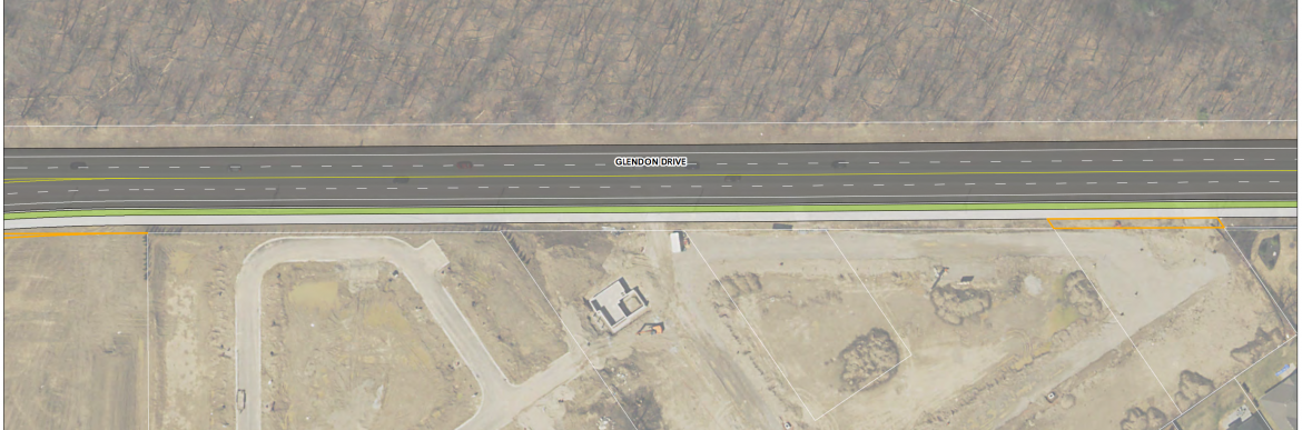 Detailed gallery of four-lane cross-section from Jefferies/Vanneck to Kilworth Park Dr